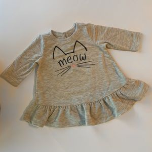 Old Navy grey baby girl cat dress size 0-3 months